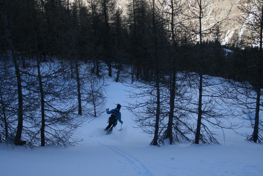 Ski de randonnée - Les Orres - Chloé ouvre la trace tranquille!