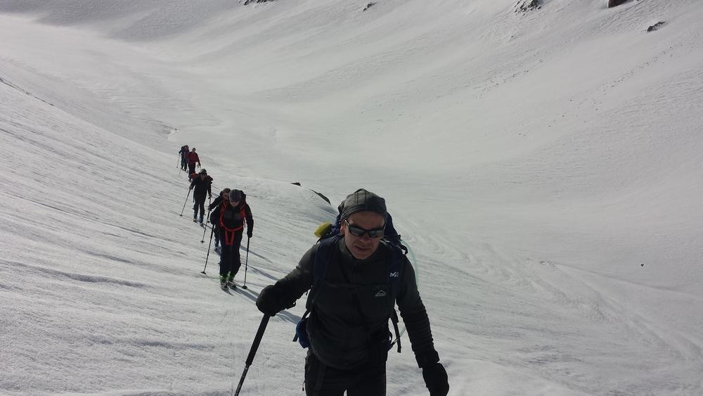 Raid Cerces - Tour du Queyrellin - Non loin du Chardonnet