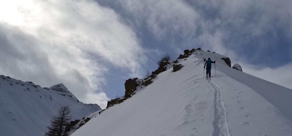 ki de rando - Crête de la Seyte - On tire un peu plus haut pour la deuxième montée