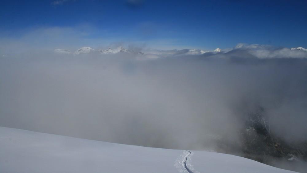 Ski de rando - Crête de la Seyte - Le créneau arrive!