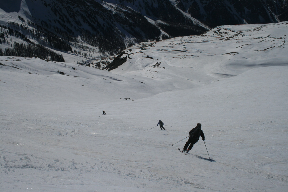 Raid ski Queyras - Pic Traversier - Bonne neige malgré l'horaire tardif
