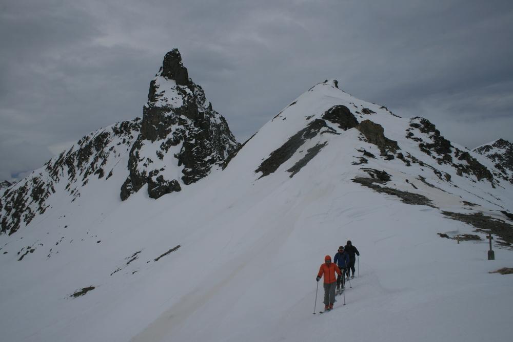 Raid ski Queyras - Tour des Toillies - Arrivée au Col Blanchet