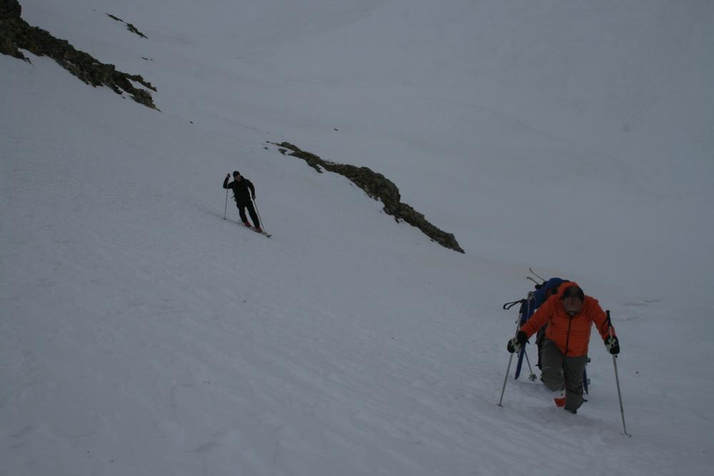 Raid ski Queyras - Tour des Toillies - Petite remontée de couloir