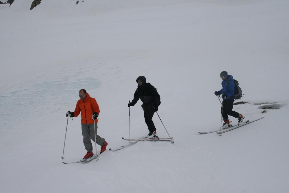 Raid ski Queyras - Tour des Toillies - Près des lacs frontaliers
