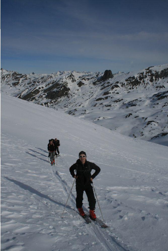 Raid ski Queyras - Tête du Longet - Lolo et son rythme régulier!