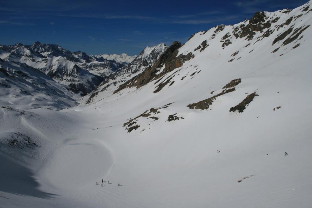 Raid ski Queyras - Tête du Longet - Ski dans le grand large