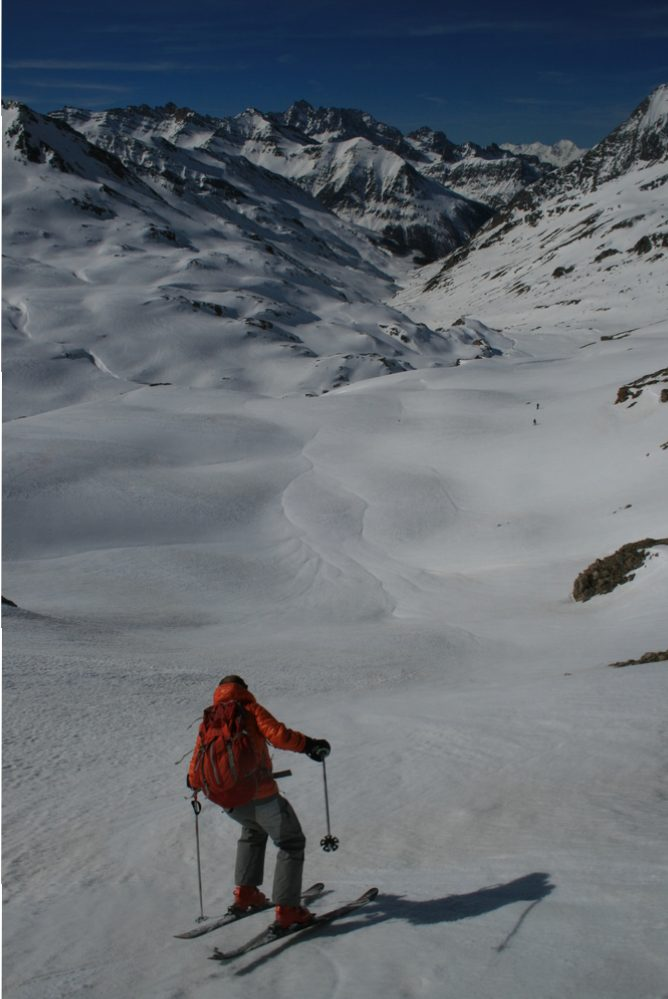 Raid ski Queyras - Tête du Longet - Moquette du matin