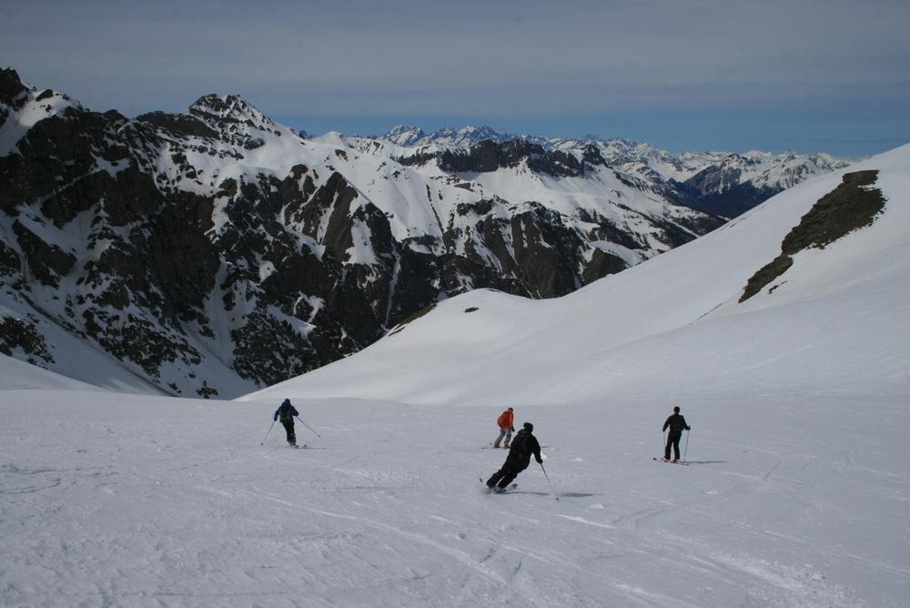 Raid ski Queyras - Tête du Longet - Ski en bande