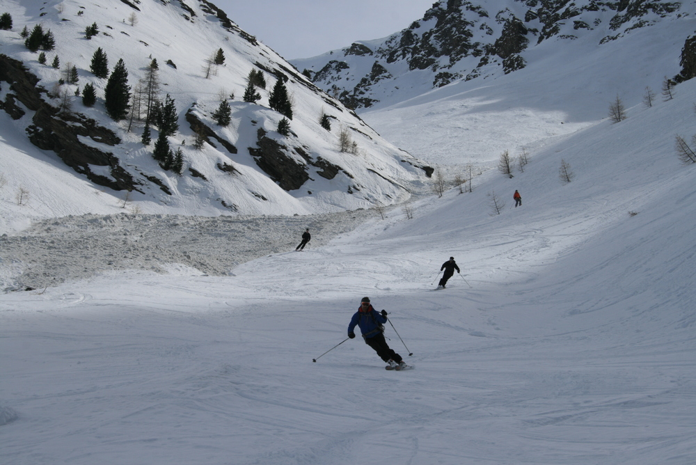 Raid ski Queyras - Tête du Longet - Excellent jusqu'en bas!