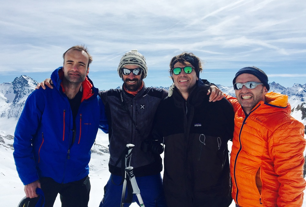 Raid ski Queyras - Tête du Longet - La team (moins Laurent)