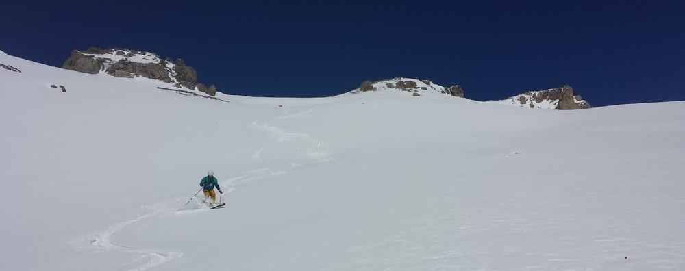 Beal Traversier - Première descente versant sud