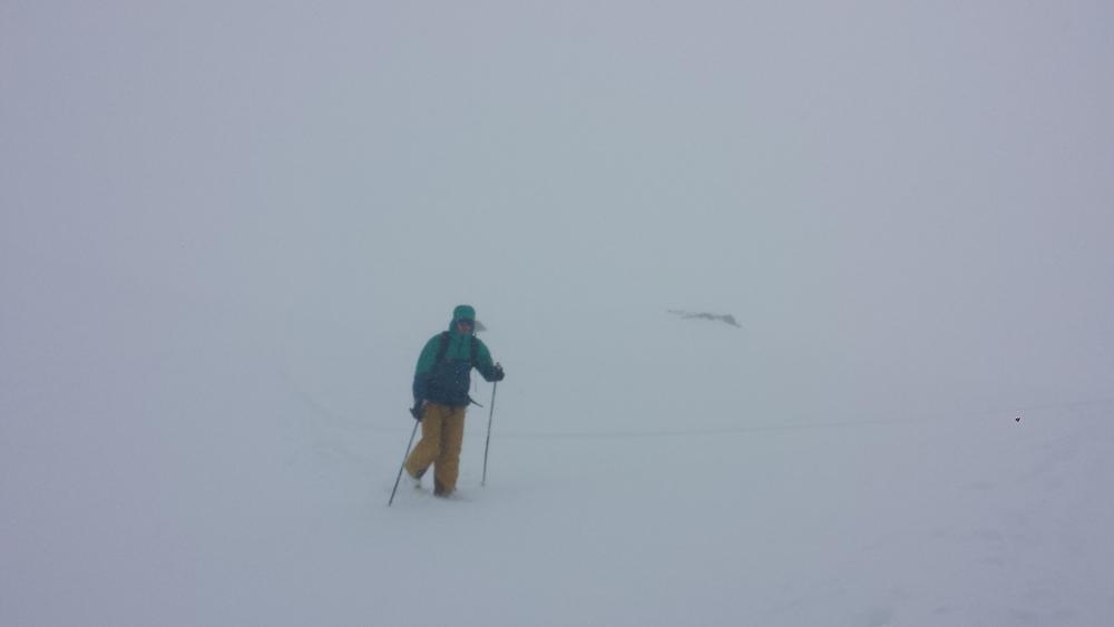 Couloir Nord de ChateauRenard - Visi plutôt limite au sommet