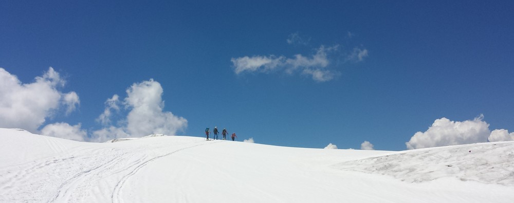Mont-Blanc - Ski - La jonction