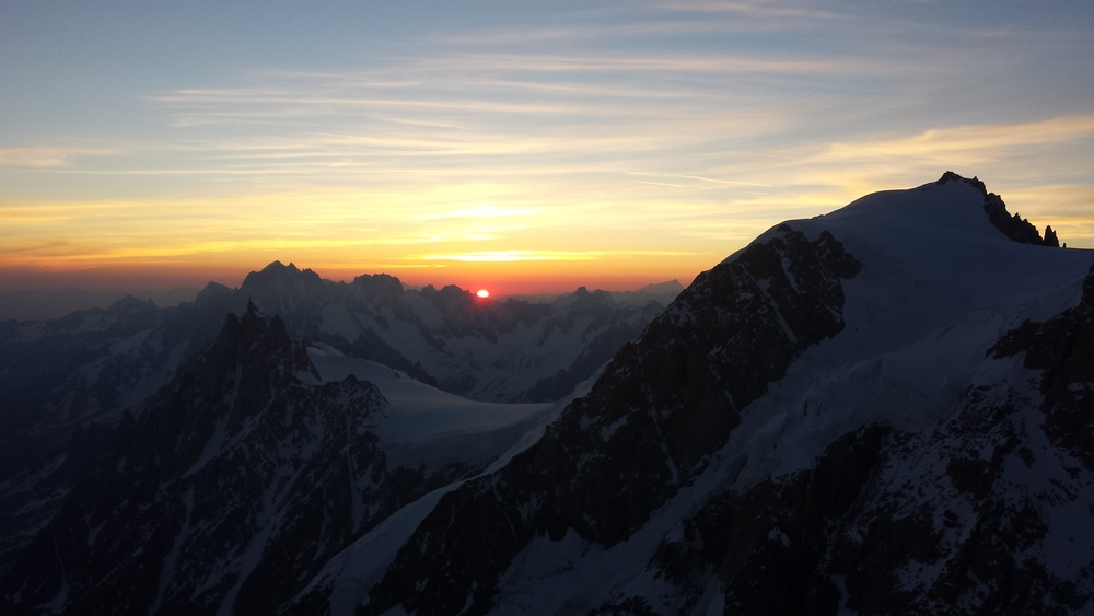 Mont-Blanc - Ski - Levé de soleil