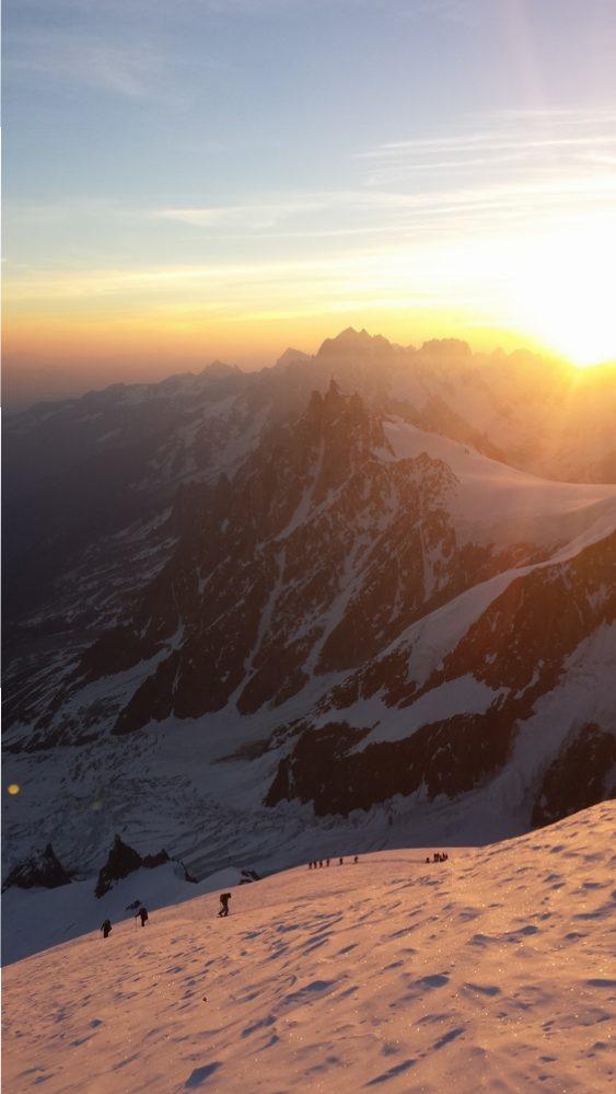 Mont-Blanc - Ski - Fin de l'arête nord du Dôme