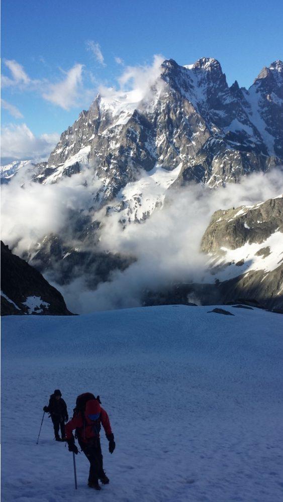Initiation alpinisme - Le mauvais temps annoncé!