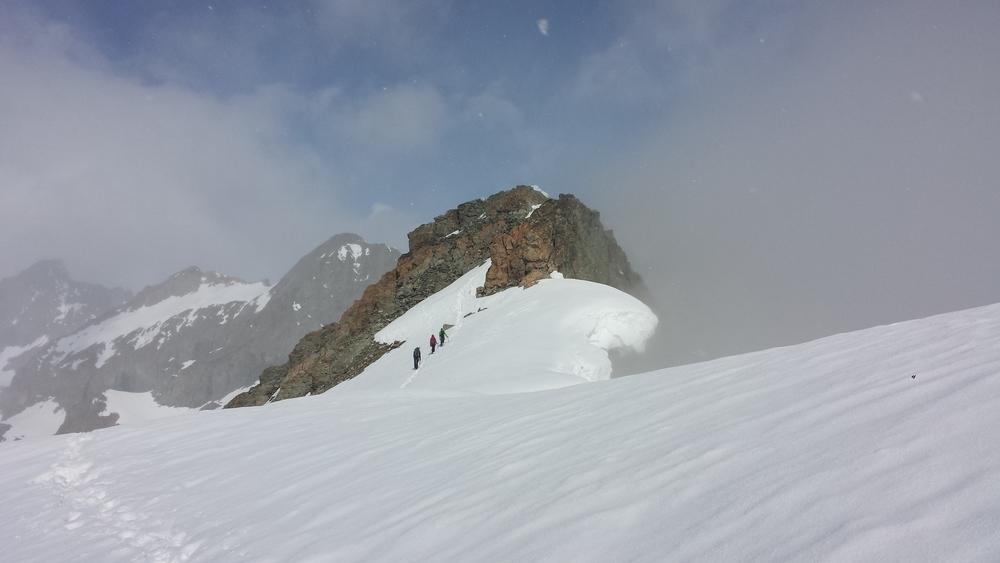 Initiation alpinisme - Arrivée au Pic d'Arsine