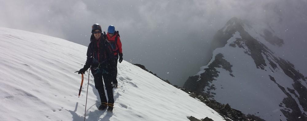 Initiation alpinisme - Sortie du couloir sud du Pic d'Arsine