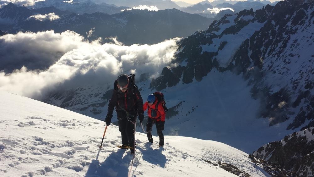 Initiation alpinisme - Sortie sur l'arête vers le Pic du Glacier Blanc
