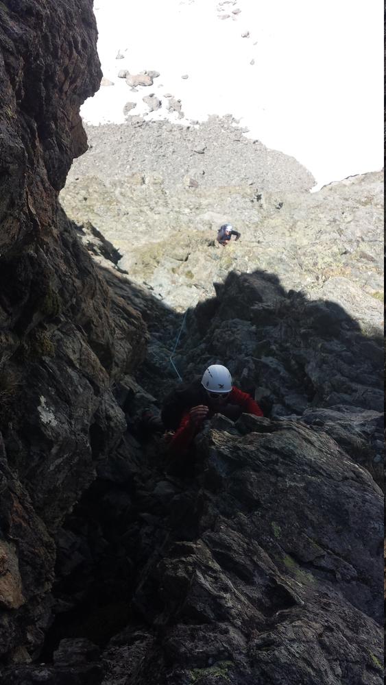 Stage autonomie - Pointe Estienne - PDB - Damien à la grimpe