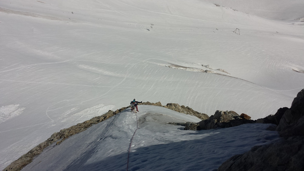 Pointe Marie Louise - Petite arête de neige