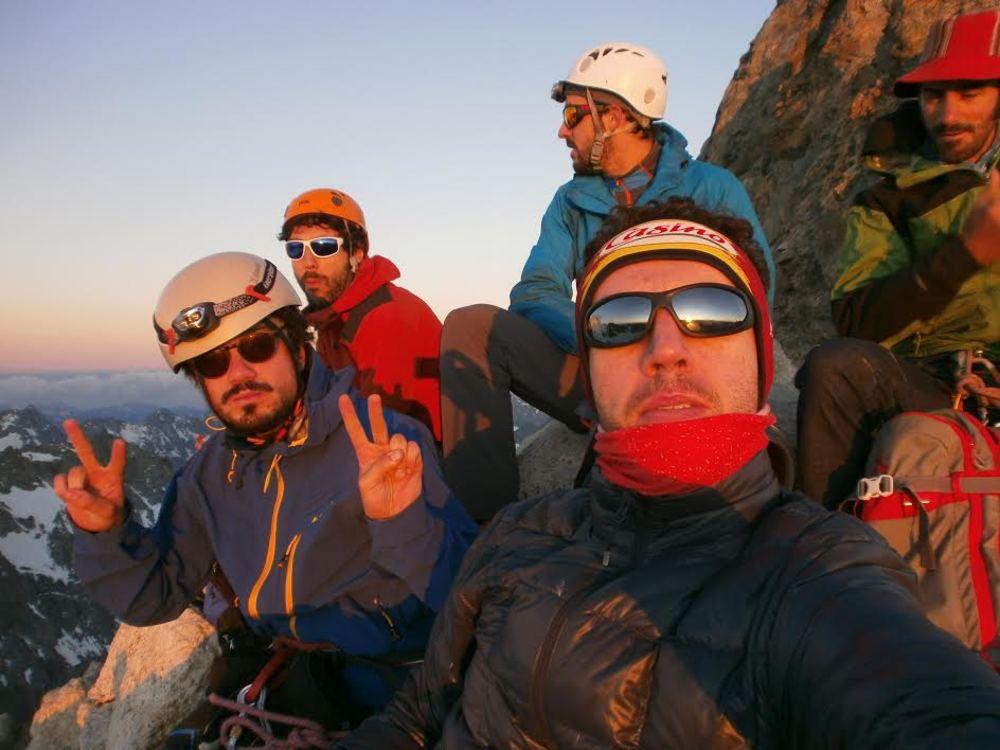 L'équipe au sommet de la Roche Faurio