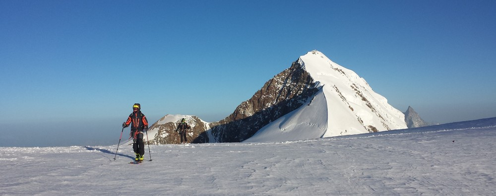 Mont-Rose - Ski - Yann et Christophe devant le Lyskamm