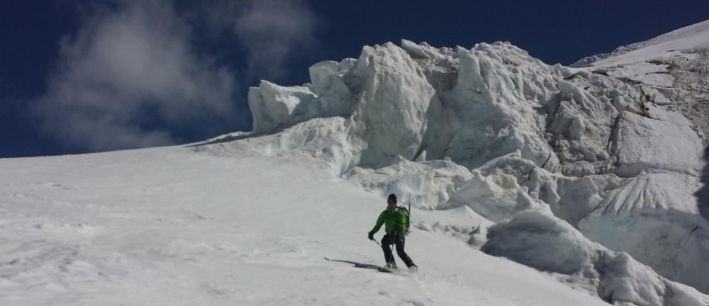 Mont-Rose - Ski - Yann et Christophe sous le sérac