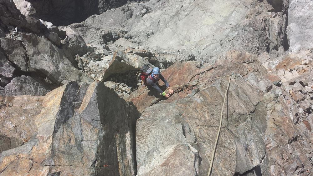Pilier sud Barre noire - Le sommet est proche
