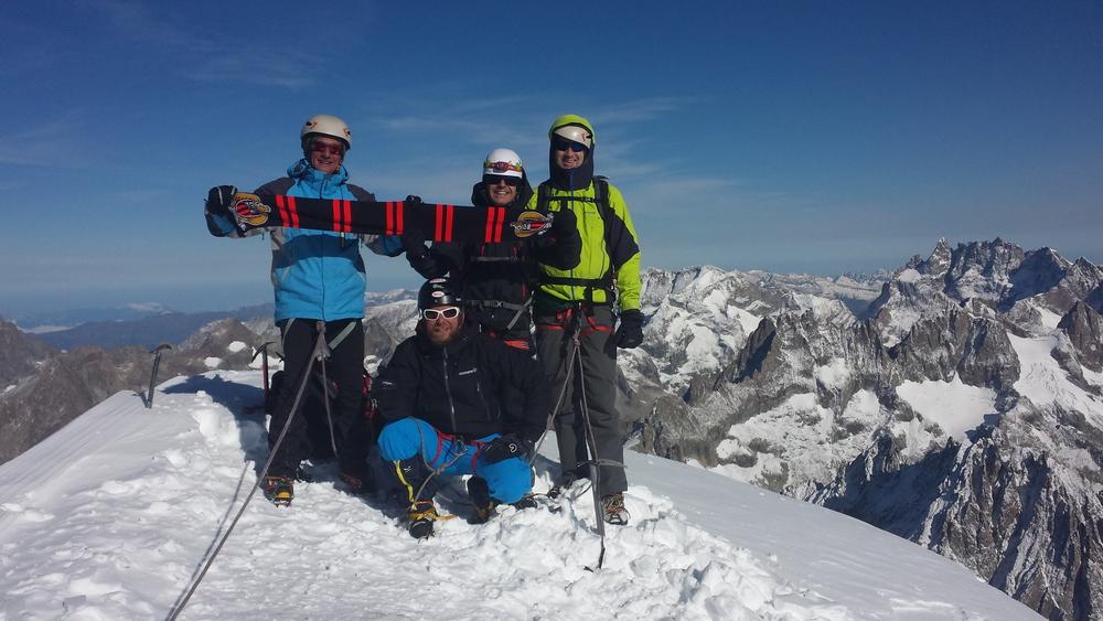 Dôme des Ecrins - La bande au sommet