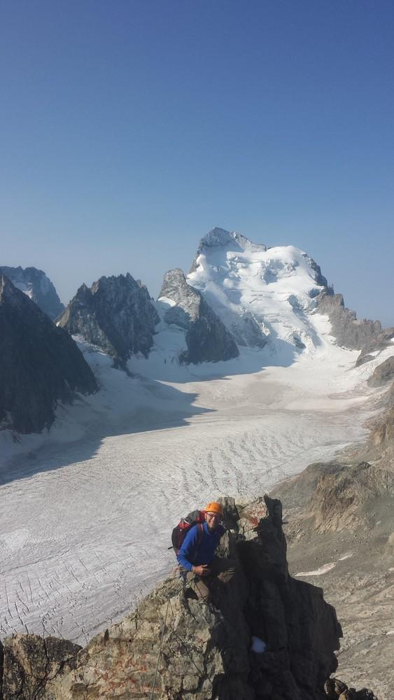 Stage initiation 5 jours- Arête sud Glacier Blanc - Vue démente