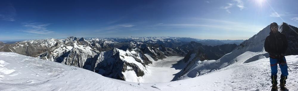 Dôme des Ecrins - Panoramic view
