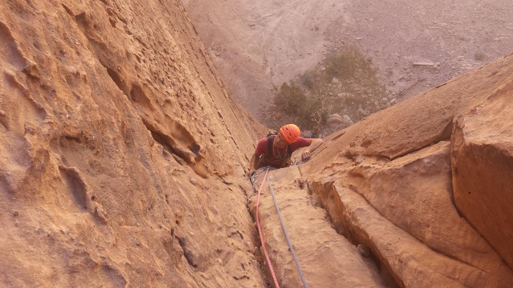 Barrah canyon - Rumeurs de la pluie - Dans la première longueur