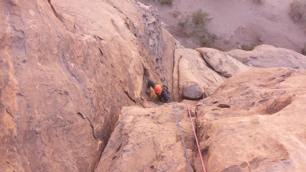 Barrah canyon - Rain in the desert - Bonne mise en jambe