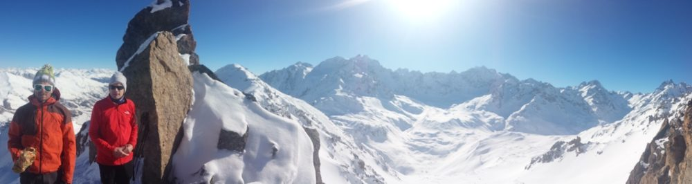 Etendard Combeynot - Couloir nord - Panoramique