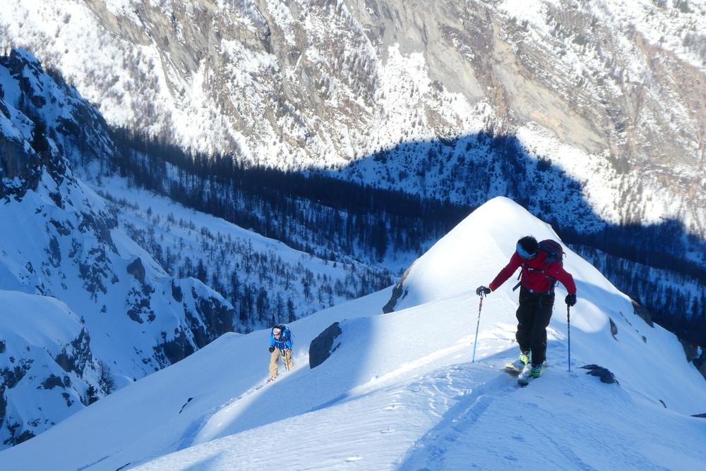 Aiguillas Face Nord - A la montée