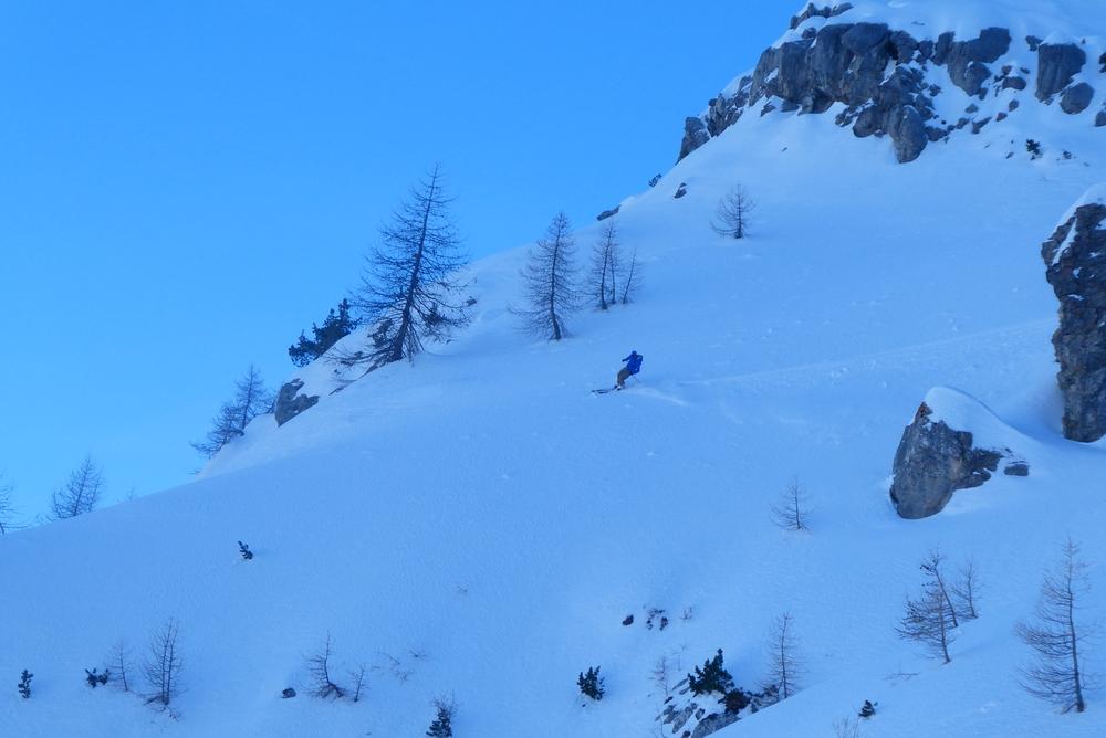 Aiguillas Face Nord - Yann au télémark