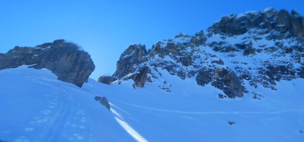 Couloir nord Aiguillas - Là haut