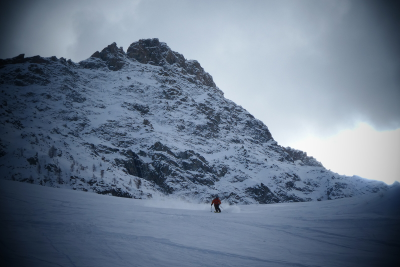 Couloir crête Bel Serre - On se croirait en montagne
