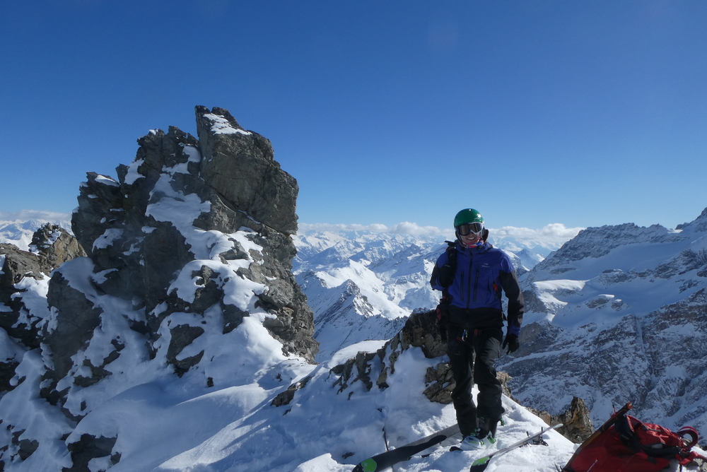 Pointe Charlet - Couloir nord - Summit
