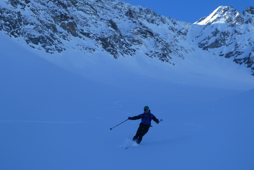 Pointe Charlet - Couloir nord - Combe toute vierge