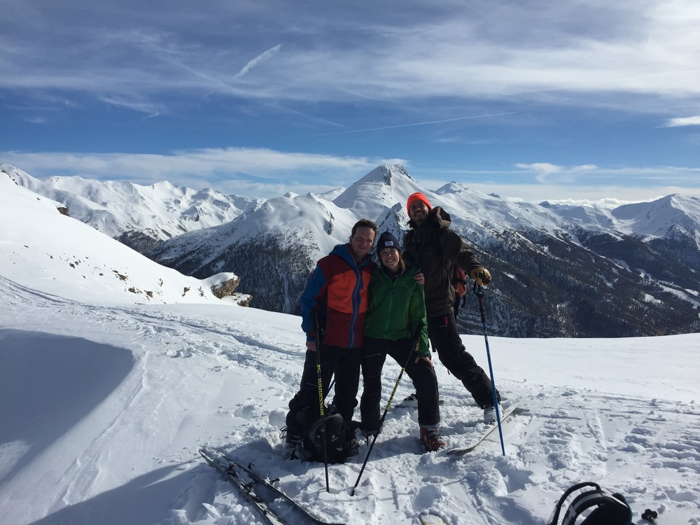 Free-rando-Crévoux - Team sur l'arête du Pic Haut