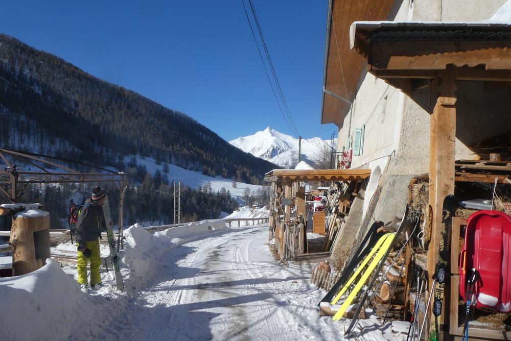 Ski randonnée Ubaye Fouillouse - Vers le Col de Mirandol - Gite de fouillouse