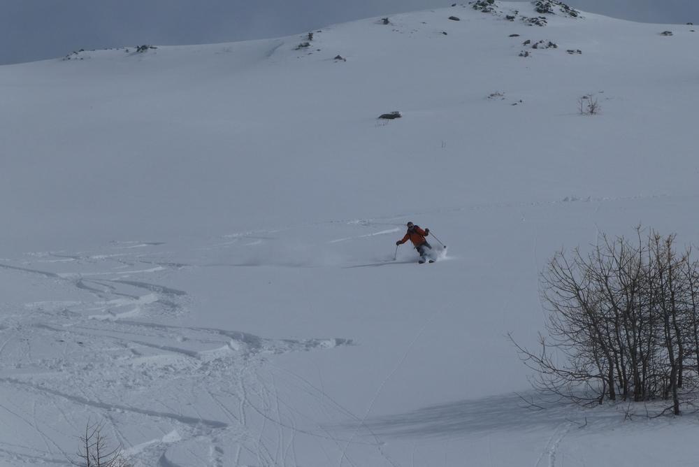 Ski randonnée Ubaye Fouillouse - Vers le Col de Mirandol - Eddi, mieux à la descente