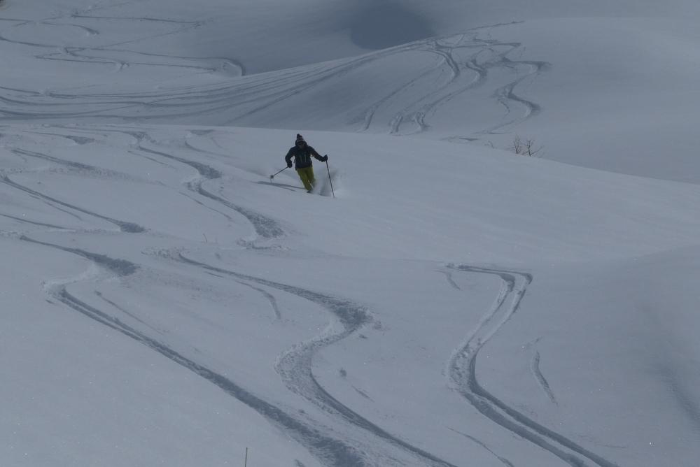 Ski randonnée Ubaye Fouillouse - Vers le Col de Mirandol - Crémeux
