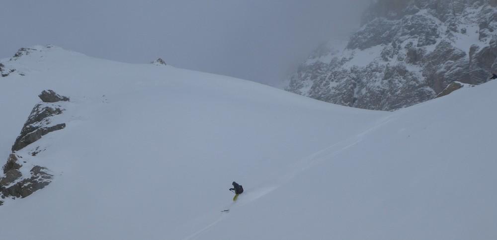 Ski randonnée Ubaye Fouillouse - Tour du Replat des Genisses - Tor sous le Chambeyron