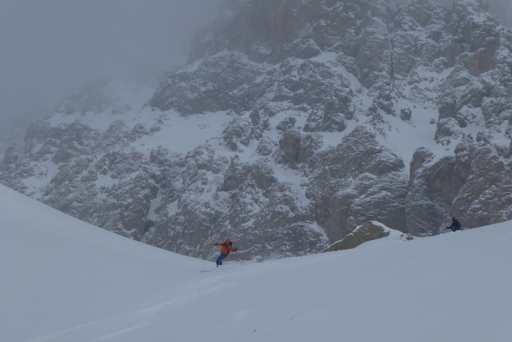 Ski randonnée Ubaye Fouillouse - Tour du Replat des Genisses - Eddi sous le Chambeyron
