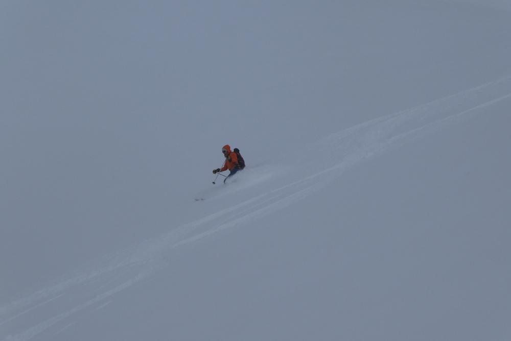 Ski randonnée Ubaye Fouillouse - Tour du Replat des Genisses - Eddi dans la popow