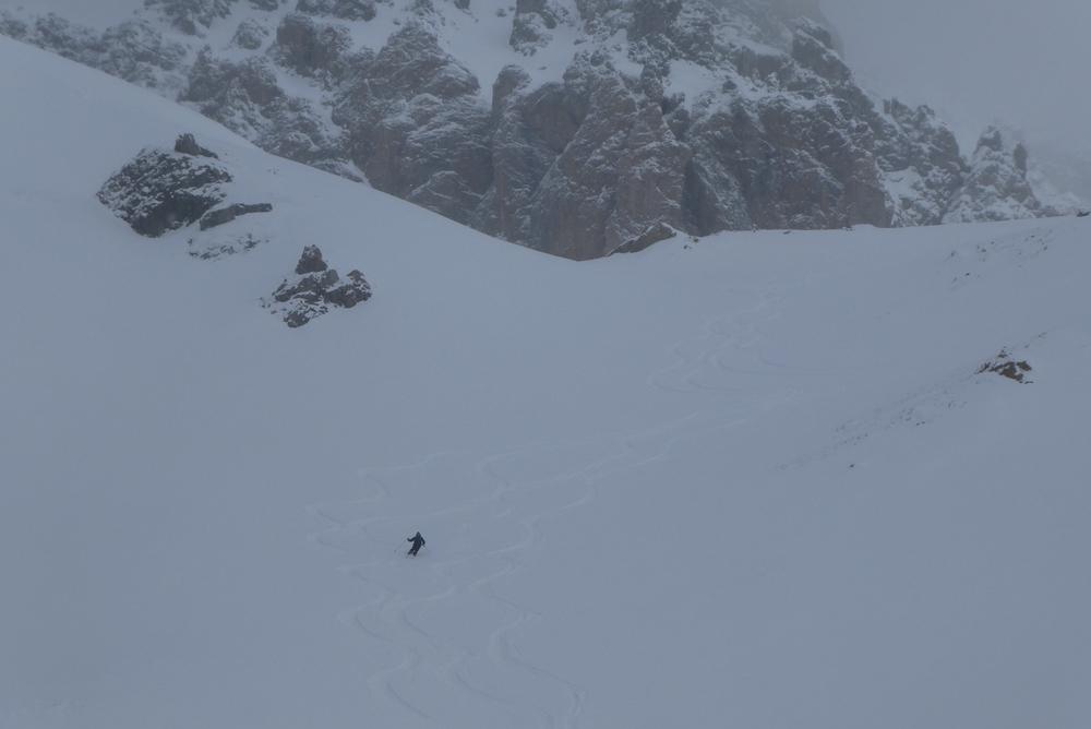 Ski randonnée Ubaye Fouillouse - Tour du Replat des Genisses - Karl sous le Brec