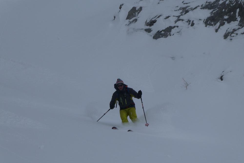 Ski randonnée Ubaye Fouillouse - Tour du Replat des Genisses - Tor dans la deep snow